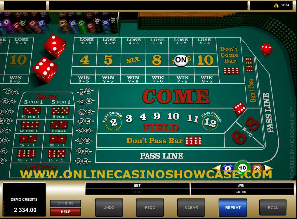 craps online casino games with dices