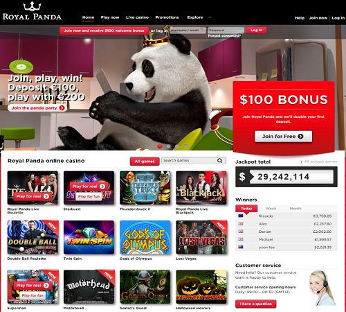 royal panda online casino games