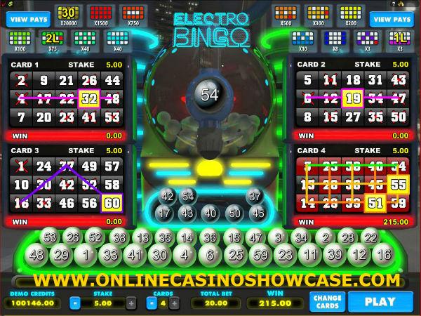 electro bingo game