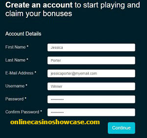step one registering an online casino account