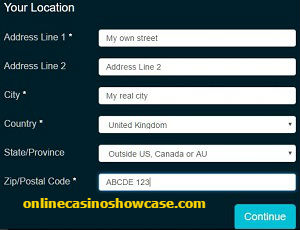 registration casino account online step 2