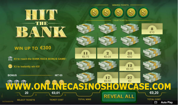 hit the bank scratch card