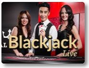 live blackjack casino game